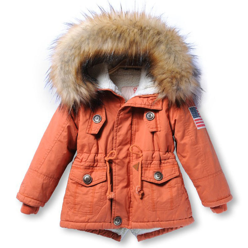 snow wear Girls &Boys winter coat Children's Parkas Winter Jackets Infant Clothing Faux Fur Hooded baby  kids Clothes boy snows
