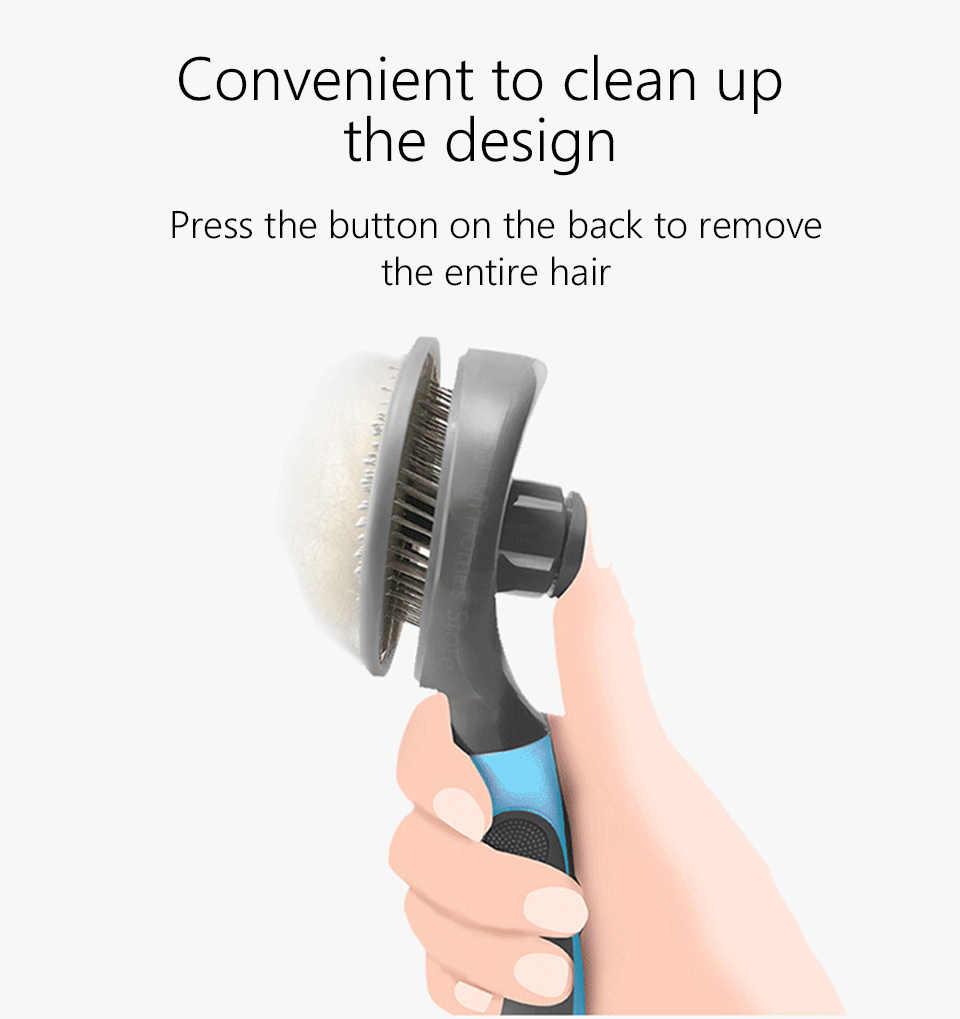 Xiaomi youpin pet gato escova de remoção do cabelo pente pet grooming ferramentas cabelo derramamento trimmer pente para gatos xiomi mijia 47