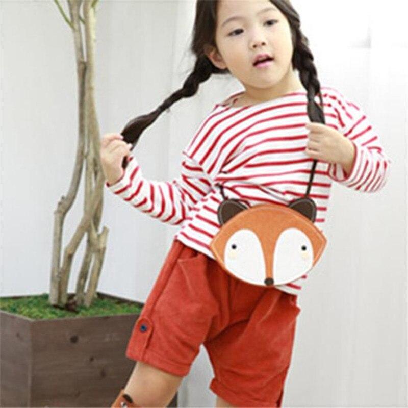 Adorable GIRLS Fox Fashion bag Cute Storage Bag Single Shoulder Bag with strip money bag wallet girl cion purse monederos
