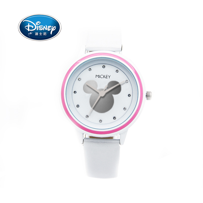 Disney Women Ladies Watch Clock Children Kids Watch Quartz Brand Leather Fashion Simple Wristwatches Girls Mickey Gift Leather hot sales lovely children cartoon watch princess elsa anna leather strap quartz watch boys girls baby birthday gift wristwatches