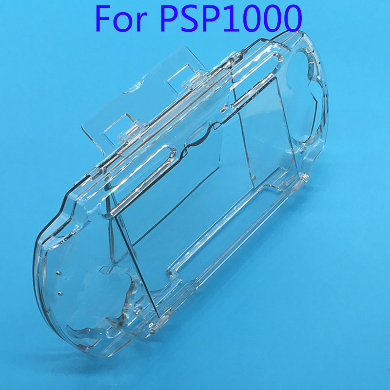 10Pcs Clear Transparent Hard Case Protective Cover Shell for Sony PlayStation Portable PSP 1000 console Crystal