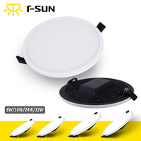 Ultra Thin LED Panel Downlight 8W 16W 24W 32W Round Square LED Ceiling Recessed Light With