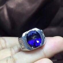 Настоящее и Натуральный топаз Кольцо мужское кольцо 925 Серебро 10*12 мм драгоценный камень для мужчин прекрасные украшения ручной работы