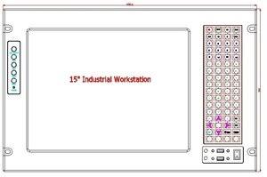 """Image 5 - 19 """"7U מתלה הר תעשייתי מחשב, 15"""" LCD, עם מסך מגע, Core P7550 מעבד, GM45 שבבים, 4 GB זיכרון RAM, 500 GB HDD"""