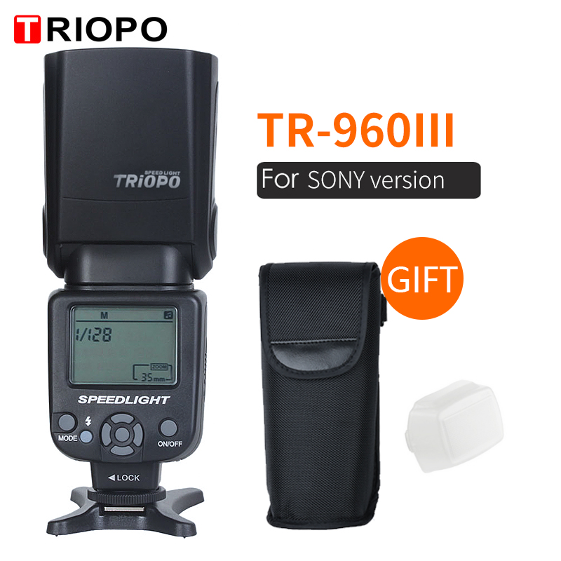 Triopo Speedlite Flash Speedlight TR 960 III 2.4G Wireless Suit for Sony A850 A450 A500 A560 A77 A65 A33 A35 Cameras Genunie-in Flashes from Consumer Electronics    1