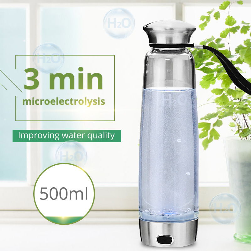 500ml Hydrogen Rich Cup Portable Health Bottle High Concentration Hydrogen Water Generator Alkaline Water Maker USB new arrival hydrogen generator hydrogen rich water machine hydrogen generating maker water filters ionizer 2 0l 100 240v 5w hot