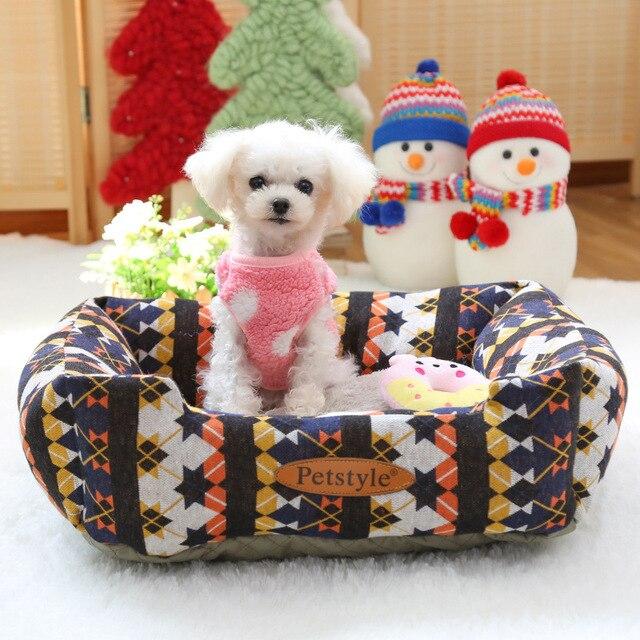Cute Small Dog Mat Cushion Mattress Winter Warm Fleece Sofa Bed House For Pet Chihuahua
