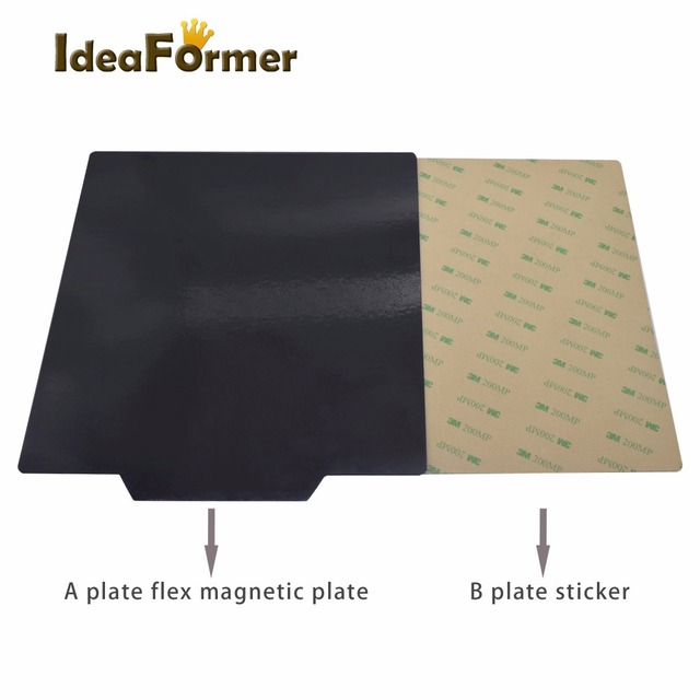 3D Printer parts New Magnetic Bed Tape for Print Sticker 150/200/214/220/235/310mm Square Build Plate Tape Surface Flex Plate 2