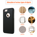 Anti-gravedad para iphone 7 7 plus adsorbibles diseño fundas protectoras cubierta de silicona tpu + pc para apple 7 7 plus capa coque