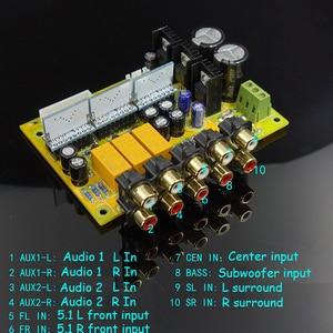 Image 4 - PGA2311X3 6チャンネルリモコンの音量リモコンプリアンプlcdディスプレイ5.1オーディオアンプNE5532オペアンプアンプ