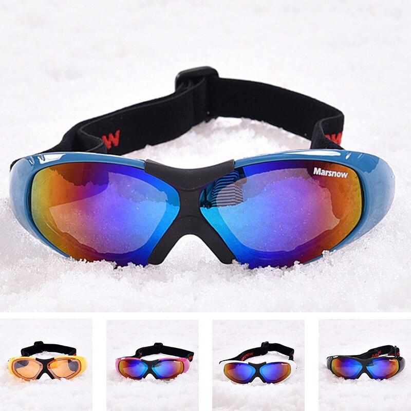 Anit-fog Ski Goggles For Men Women UV400 Windproof Snow Glasses Skiing Mask Snowboard Goggle Winter Eyewear Single Coating Lens