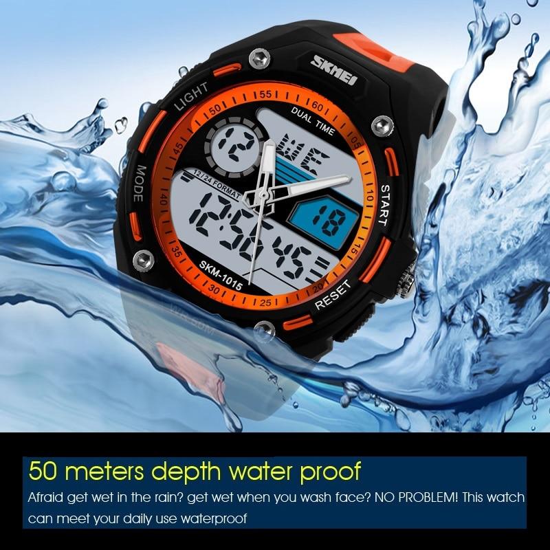 Men Sports Watches Hand-Clock Diving SKMEI Military Montre Digital Men's Brand LED Swim
