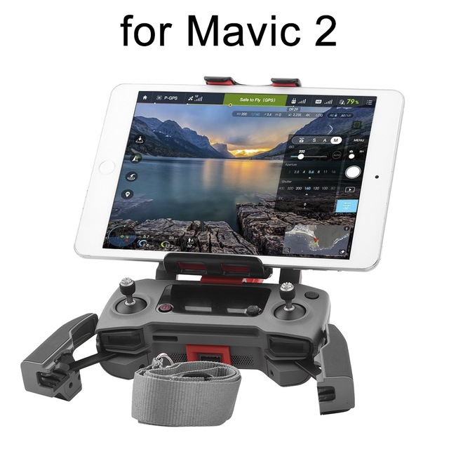 リモコンブラケット dji Mavic 2 プロズームドローン 360 度回転した正面サポート電話タブレットマウントクリップ