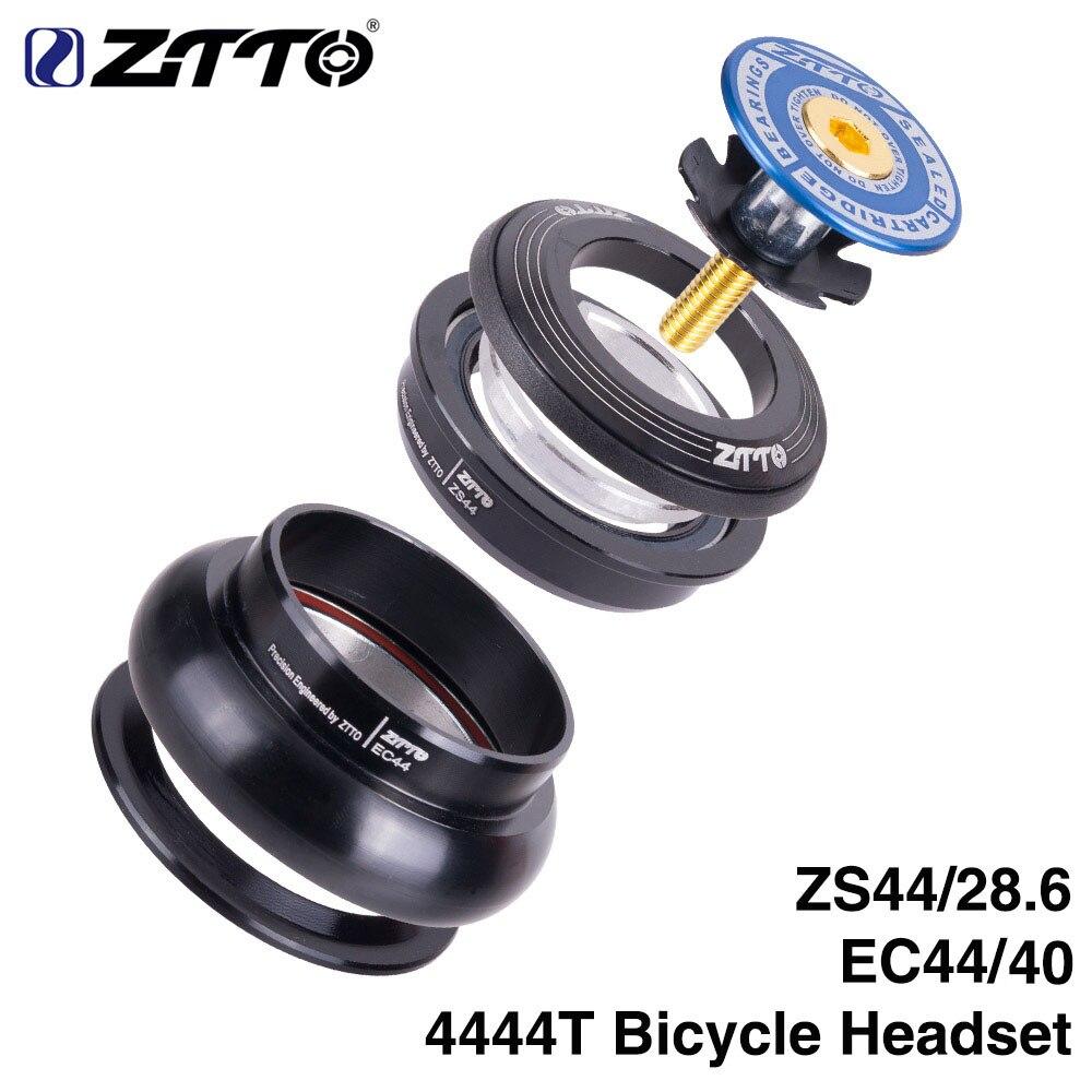 """Ztto bicicleta fone de ouvido 4444 t mtb 44mm zs44 ec44 cnc 1 1/8 """"-1 1/2"""" tubo reto quadro para tubo cônico garfo 1.5 adaptador fone de ouvido"""