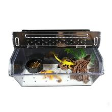 Top Selling Reptile Box Reptile Terrarium Durable Transparent Acrylic Breeding Animals Insect Live Food Feeding Box аксессуары для рептилии ming insect reptile supplies