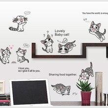 7054% 10 кошек/Чи сладкий дом в сентябре этикетка милые кошки Чи ребенок DIY кошка наклейка домашний Декор стены украшения Рождество
