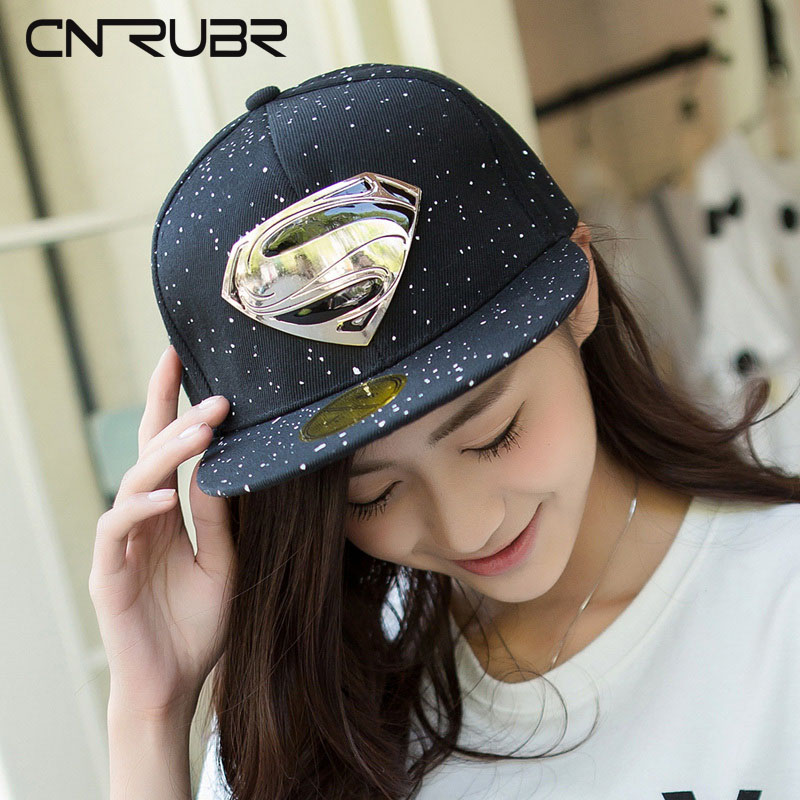 CN-RUBR  Summer Style Hat Classic Strapback Bone Superman Baseball Cap Popular Hip-Hop Hats Snapback Gorro Hip Hop Hats For Men dry fast breathable anti uv summer style diamond 5 panel cap hat strapback bone five panel snapback hip hop hats for men women
