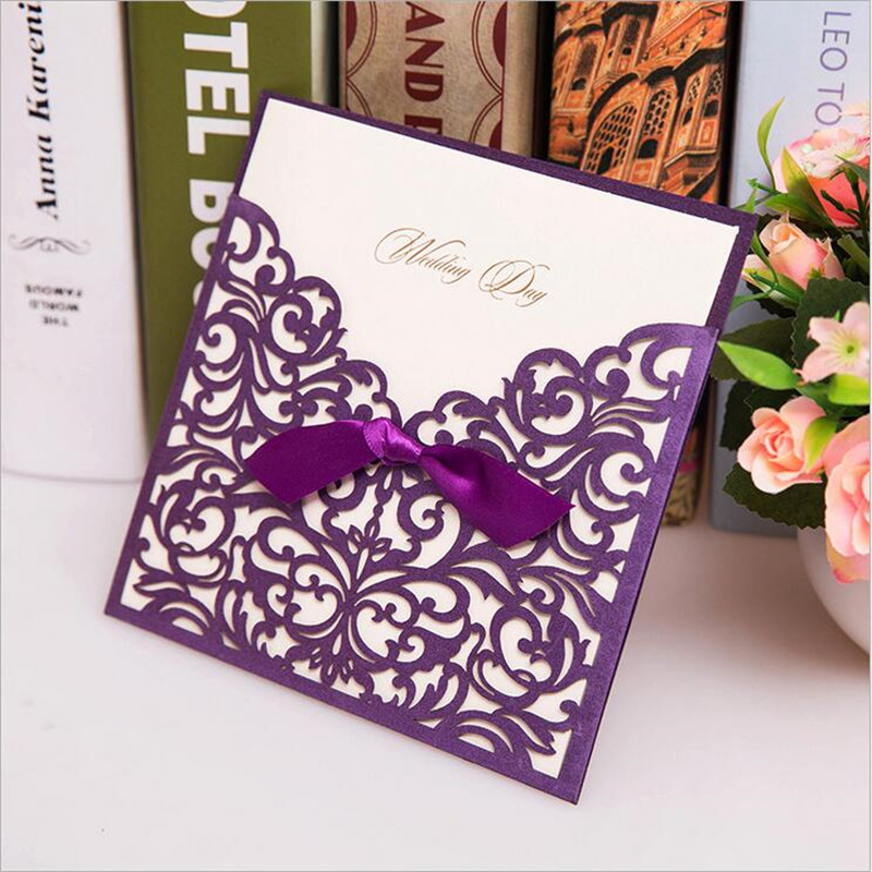 12pc Laser Cut Wedding Invitations Card Printable Marriage Wedding