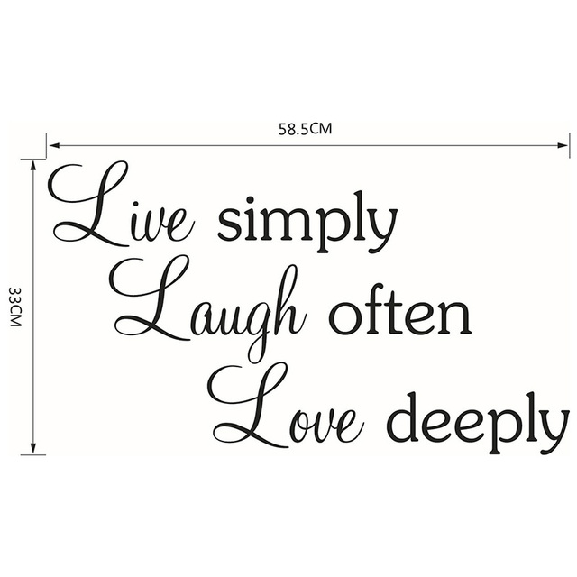 Buy live simply quotes vinyl sayings wall for Sofa quotes