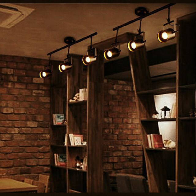 Online Shop New Black Loft Industrial Pendant Light Heads Lamp - Black kitchen spotlights