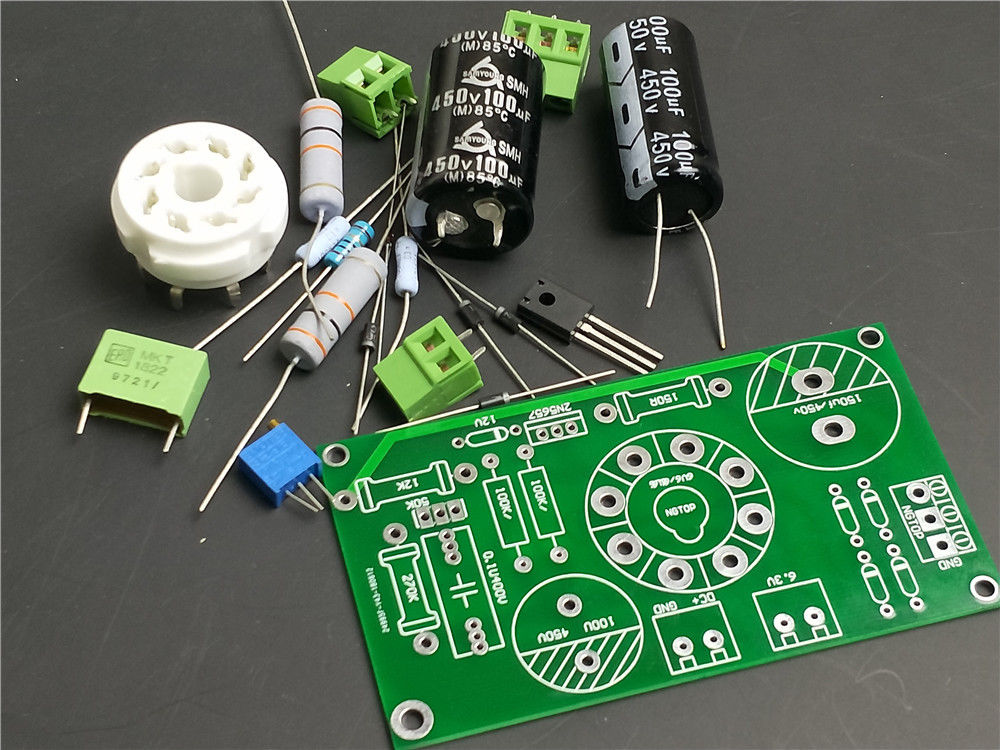 6V6 <font><b>6L6</b></font> 6P6P EL34 6P3P KT88 Rohr rectifier power supply board preamp Pre-<font><b>amp</b></font> DIY KIT image