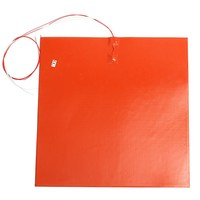 New 1PC GEEETECH 220V 40x40CM 750W Thermostor Silicone Heating Pad Heating Mattress For 3D Printer Heated