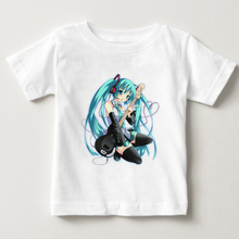 Fashion girl Print Vocaloid Hatsune Miku T-shirt O-Neck Short Sleeve Summer Japanese Famous Animation Top Tee Anime T Shirt MJ