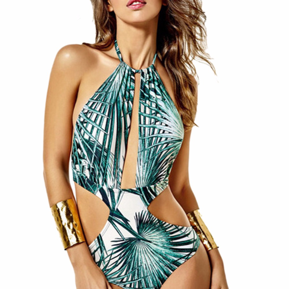 One Piece swimsuit  Swim Bandage Swimwear Women Push Up Monokini Beach Girl New Bathing Suit Maillot Femme Thong Trikini D0213