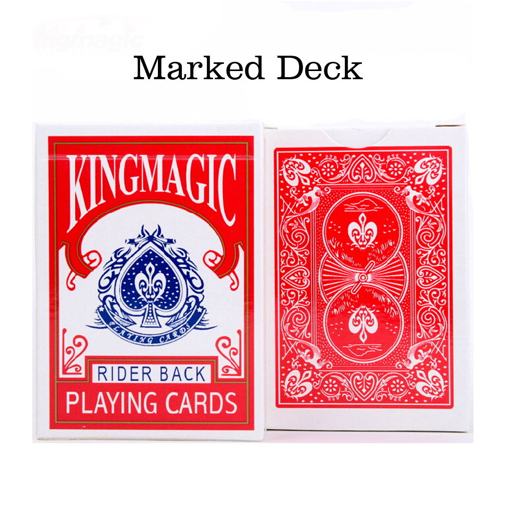 King Magic Card Magic Tricks Marked Deck Close up Magic Gimmick for Magician