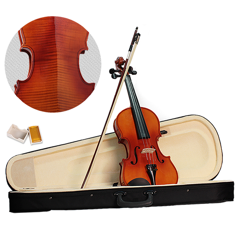 Vioin 4/4 Full Size Acoustic Fiddle Musical Instruments with Case Bow Rosin Maple Wood 4 4 high grade full size solid wood natural acoustic violin fiddle with case bow rosin professional musical instrument