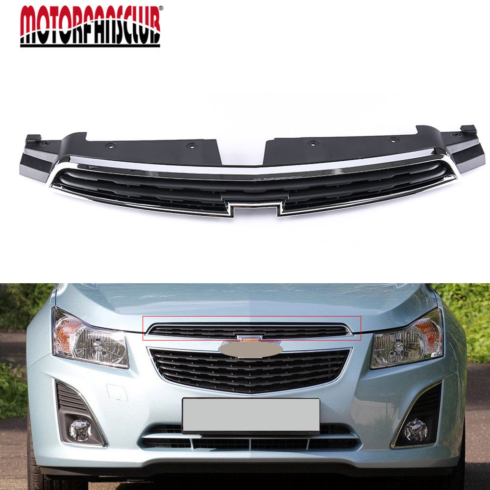 Car Styling Black Radiator Hood Front Upper Center Grille Auto Racing Grills Cover For Chevrolet Cruze 2011 2012 2013 2014 racing grills version aluminum alloy car styling refit grille air intake grid radiator grill for kla k5 2012 14