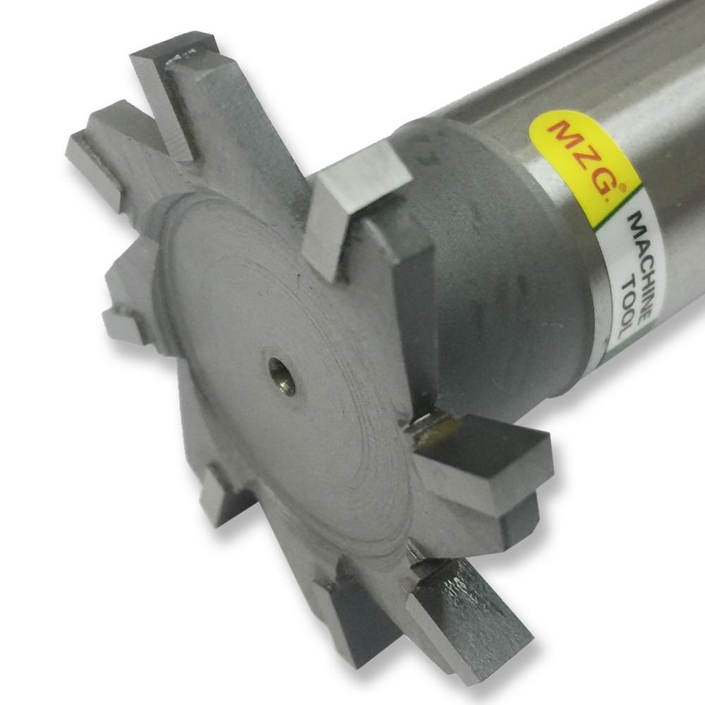 MZG 16 de Corte Em Linha Reta-Dente-30mm Fresas Slot T-Tipo de Borda Lateral de Aço de Tungstênio de Soldagem cortador de trituração Groove Processamento