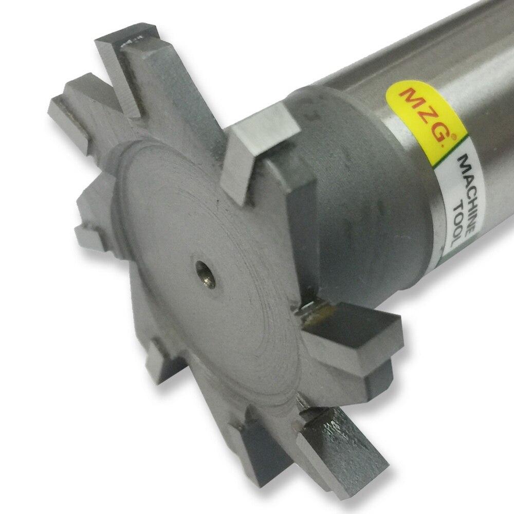 MZG corte recto 16-30mm t-slot fresadora cortador de borde de soldadura de acero de tungsteno fresado lateral cortador de ranura de procesamiento
