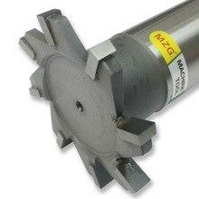 MZG fresas de corte recto con ranura en T de 16 30mm, cortador de fresado lateral de acero de tungsteno, procesamiento de ranura