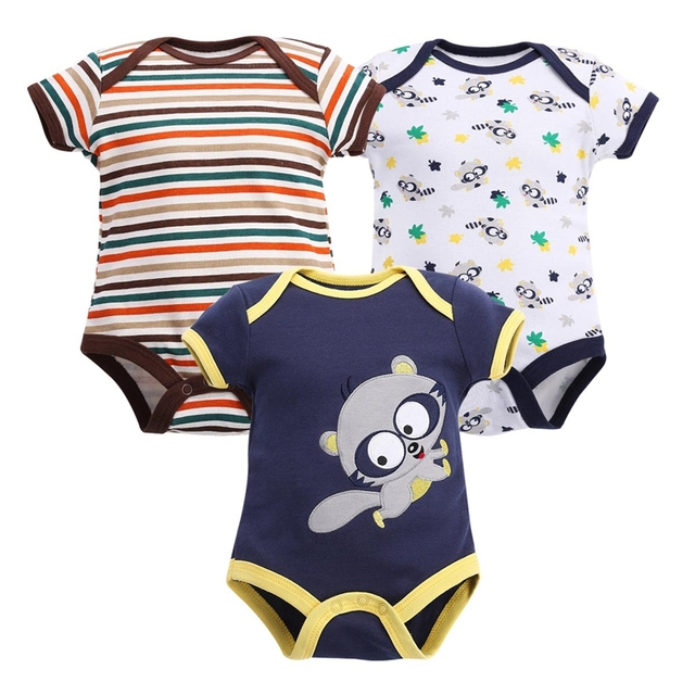 3 pcs Baby Bodysuits