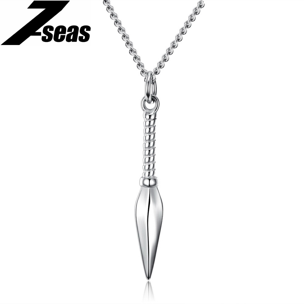 7SEAS Sporty Shuriken Pendant Necklaces For Men Warrior Hand Sword Model Pendant Jewelry Mans Necklace Naruto Cosplay,JM1156