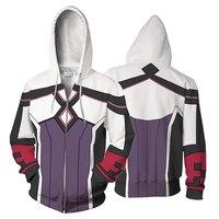 BIANYILONG Sword Art Series Hoodies Casual Sportswear Yuna Hoody Zipper Man Women 3D Printed Sweatshirt Pullover