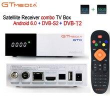 FREESAT gtmedia GTC Android 6.0 TV BOX DVB-S2/T2/Cable/ISDBT Amlogic S905D 2GB RAM 16GB ROM freesat + 1 year free CCcam gift