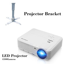 LED Projector Home Theatre proyector Full HD video Smartphone Digital TV Movie Projection Beamer with projection bracket
