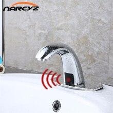 Bad Automatische Hände Touch Free Sensor Hähne wassereinsparung Induktive elektrische Wasserhahn batterie leistung kaltes wasser HZY-11