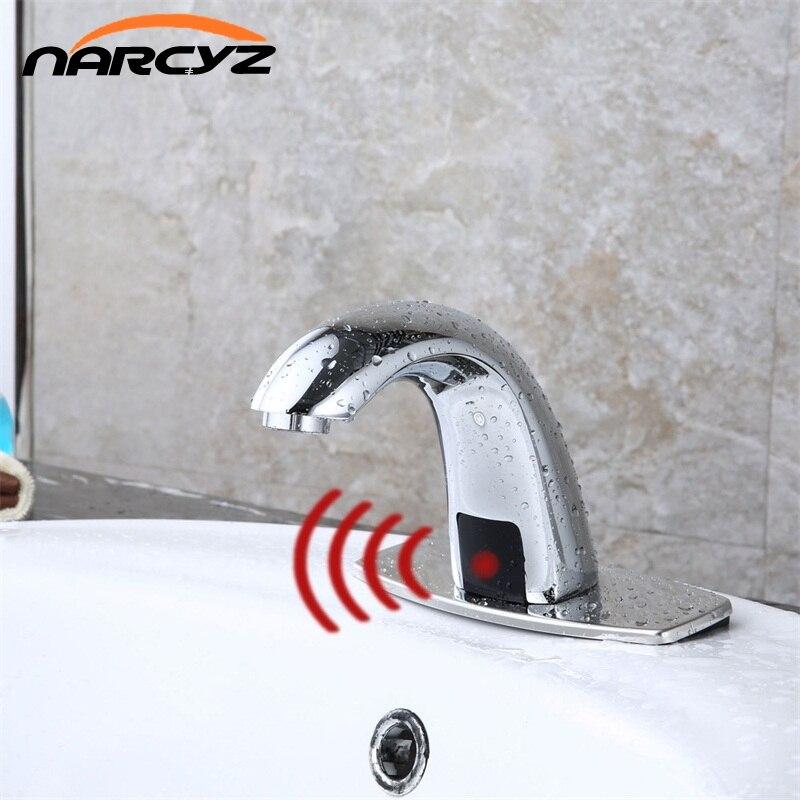 Salle de bains Automatique Mains Capteur Tactile Gratuit Robinets d'eau économie Inductif Eau électrique Robinet batterie puissance d'eau froide HZY-11