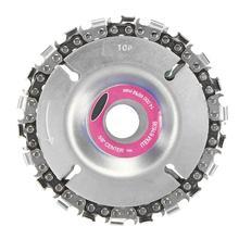 Disque de meuleuse de 4 pouces et chaîne ensemble de chaîne de coupe Fine de 22 dents pour meuleuse d'angle 100/115