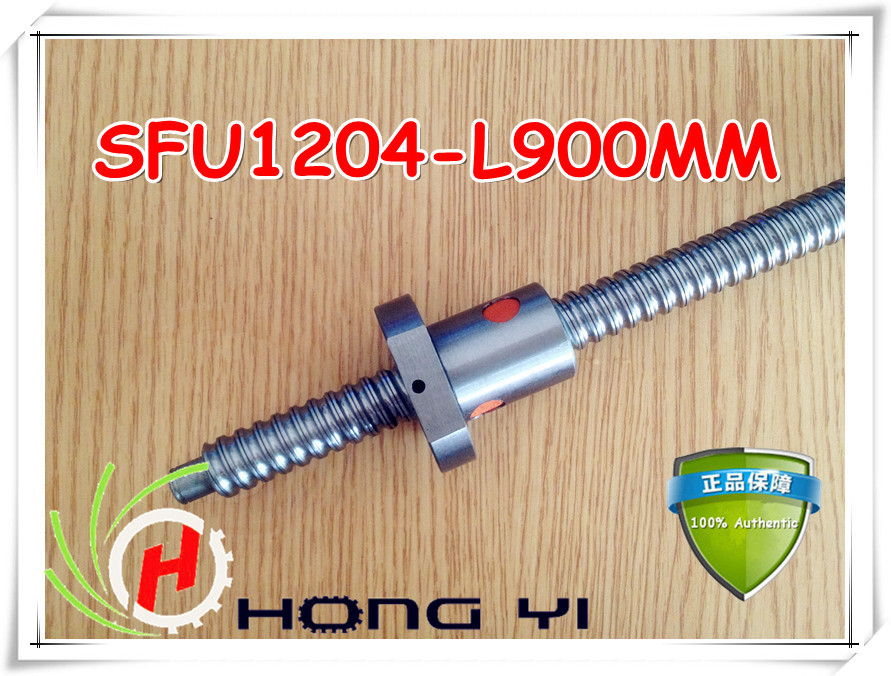 1set 1204 rolled ballscrew Linear motion CNC XYZ Ball screw SFU1204 L-900mm length with one Ballnut 32mm linear rolled 3210 lead ballscrew ballnut set 1pcs dfu3210 ball screw l 2500mm 1pcs double ball nut for diy cnc