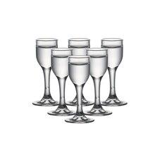 Набор из 6 шт 0,3 унций Ликер стекло ручной работы выдувное бессвинцовое стекло китайский BAIJIU рюмки для бара спиртные напитки 10 мл