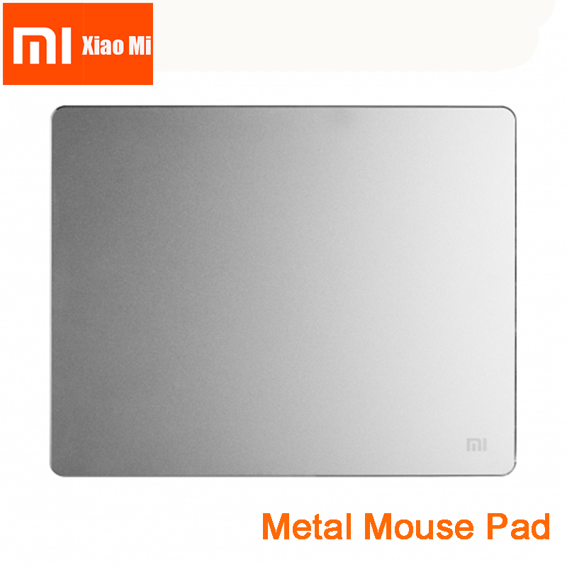 New 100% Original Xiaomi smart Mouse Pad Metal Mouse Pad Slim Aluminum Thin Computer Mouse Pads Frosted Matte for Office 2018 new samdi wood mouse pad with pen slot luxury computer mouse pads birch walnut mouse mat for apple mouse apple pen pencil