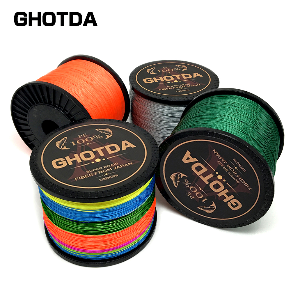 цена на GHOTDA 300M 500M 1000M Braided Wire 4 Strands 8 Strands PE Braided Fishing Line Multfilament for Carp Fishing