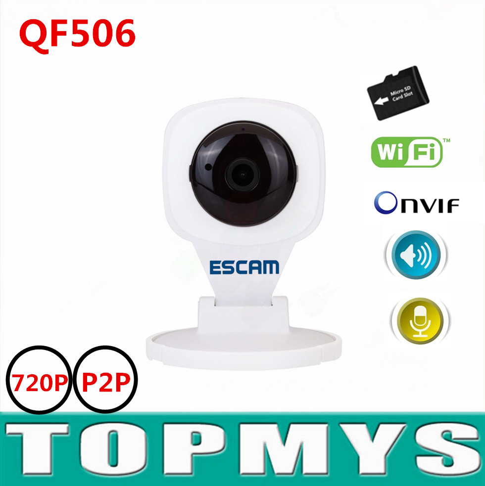 Escam mini P2P ip Camera QF506 wireless wifi Home security camera 720P network IP camera H.265 IR night vision have TF card slot escam hd3100 ir ip security camera