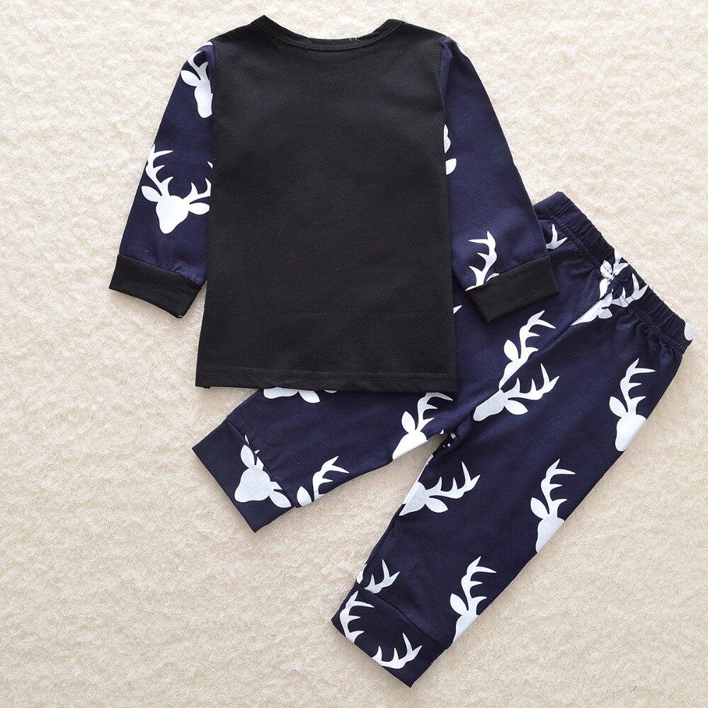 Nowy czarny świąteczny zestaw ubrań dziecięcych dla dzieci - Odzież dla niemowląt - Zdjęcie 2