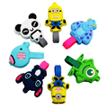 2PC/Bag Lovely Stitch Cartoon Cable Winder Headphone Earphone Cable Wire Organizer Cord Holder for iPhone Samsung