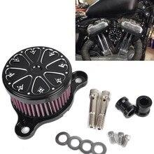 ЧПУ Воздушный Фильтр + Фильтр Система RC Чехол для HD Harley Davidson Sportster XL 883 1200 2004-UP Воздушный Фильтр для Грубой ремесла